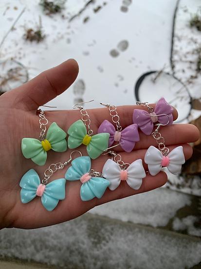 Colorful Kawaii Bow Earrings