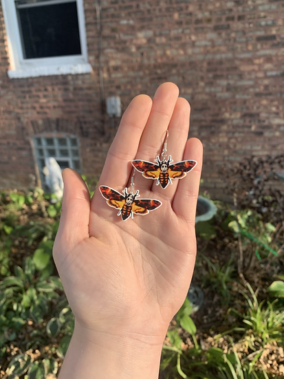 """""""The Silence of the Lambs"""" Moth Earrings"""