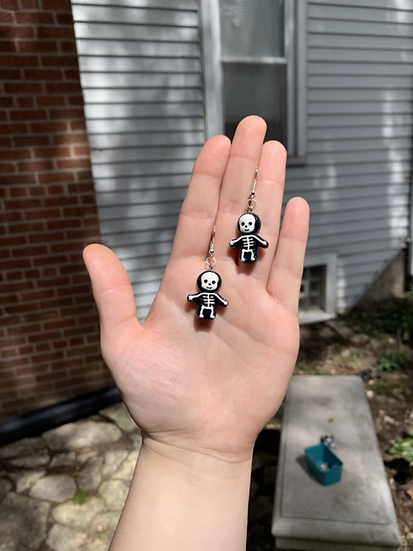 Baby Skeleton Earrings