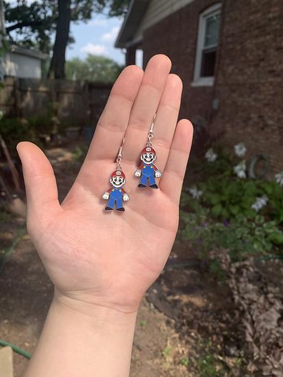 It's Mario Time Earrings