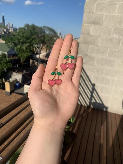 Cherry Love Dangles