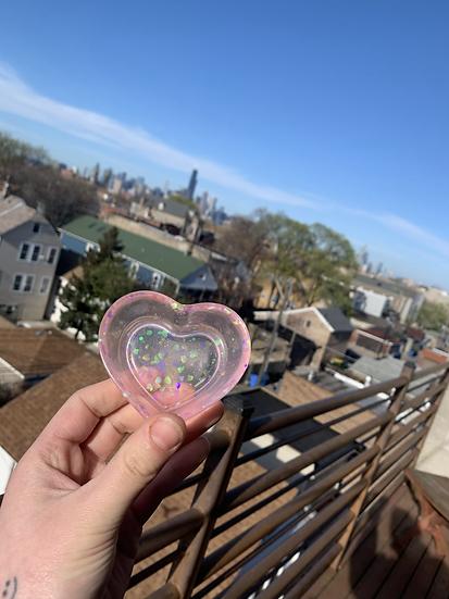 Pink Heart Miniature Ashtray