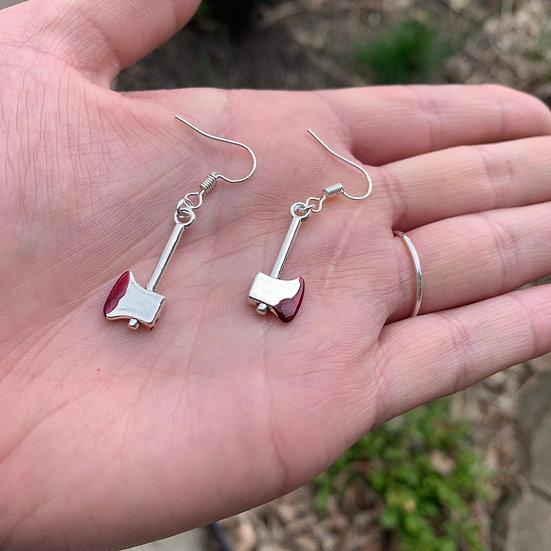 Bloody Axe Earrings