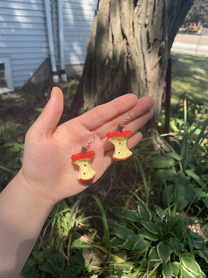 Apple Core Earrings