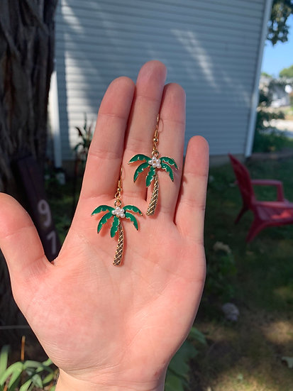 Pearlescent Palm Tree Earrings