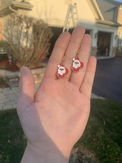 Kawaii Santa Earrings