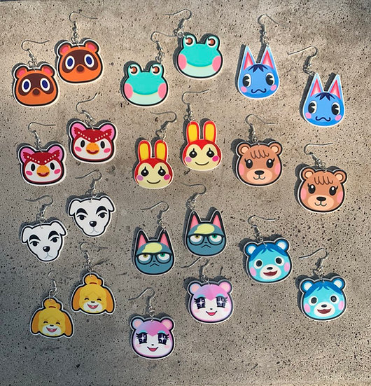 Animal Crossing Villager Earrings