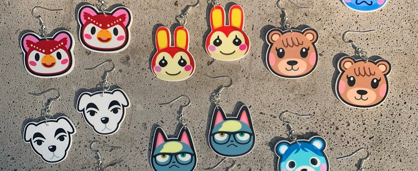 Animal Crossing Villager Earrings