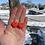 Thumbnail: Rosy Red Heart Earrings