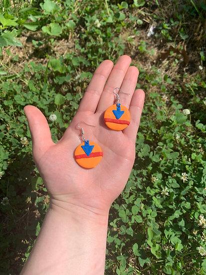 Airbender Arrow Clay Earrings