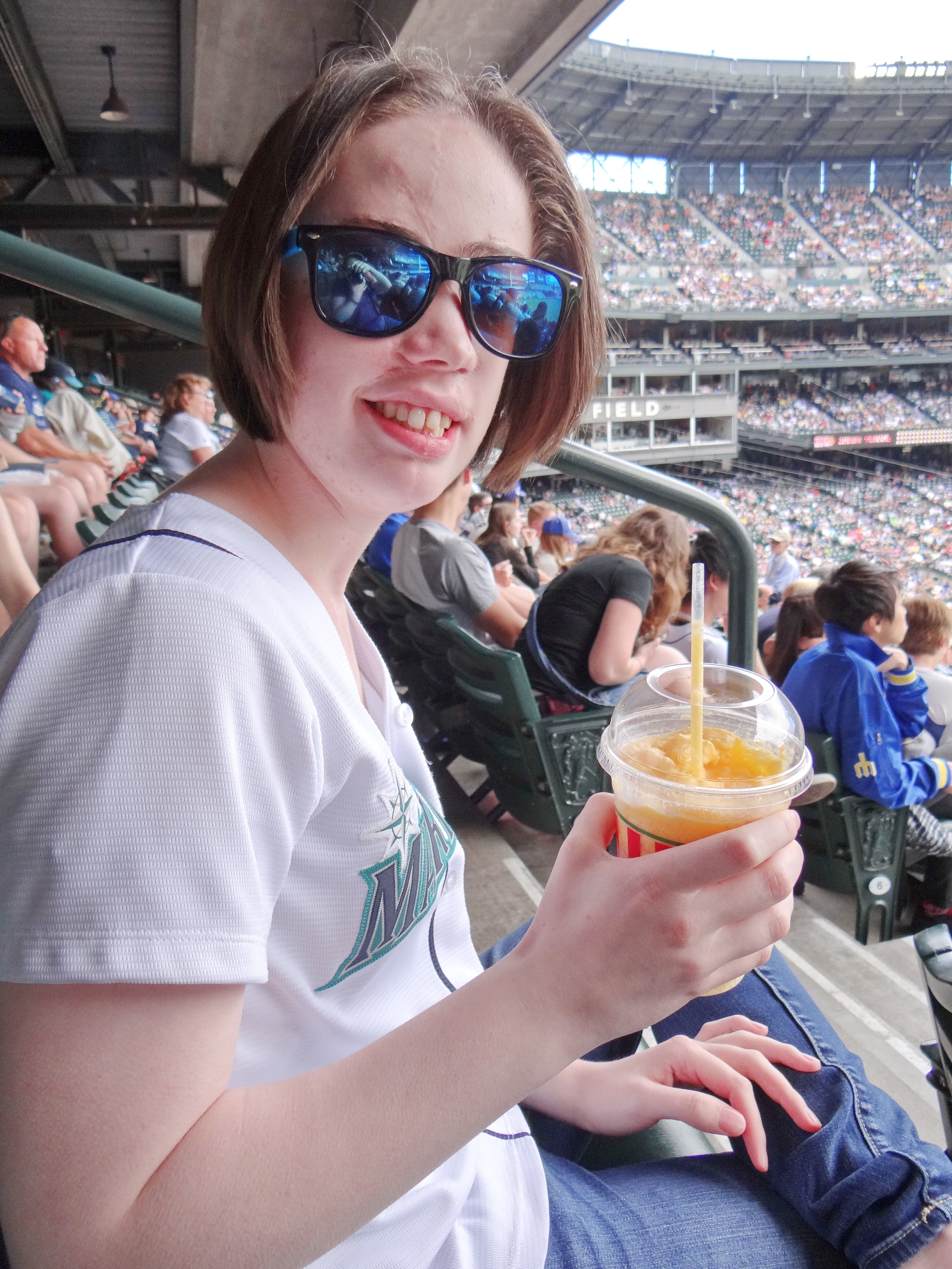 At Safeco Field with my Mariners
