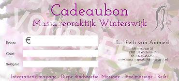 voorbeeld cadeaubon Massagepraktijk Winterswijk