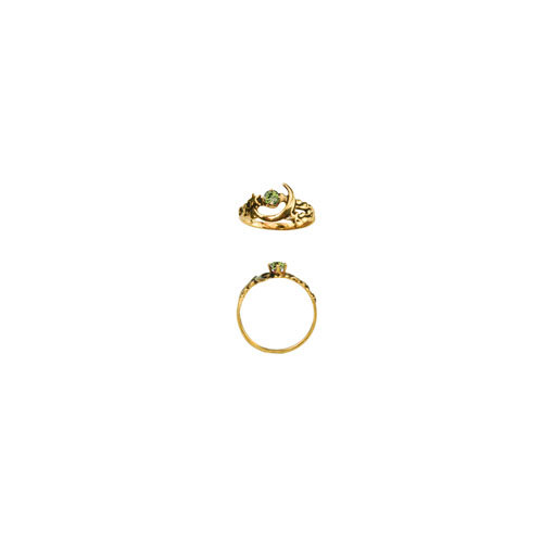 MOON 3MM STONE RING (S155)