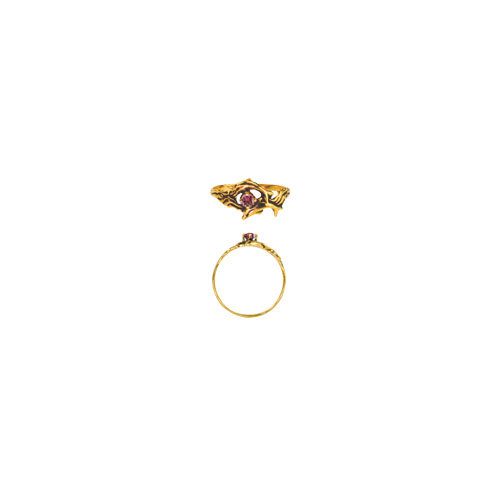 DOLPHINS 3MM STONE RING (S125)