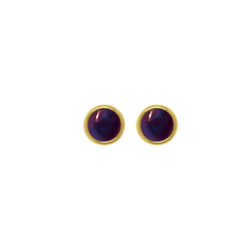 5MM CABUCHON EARRINGS