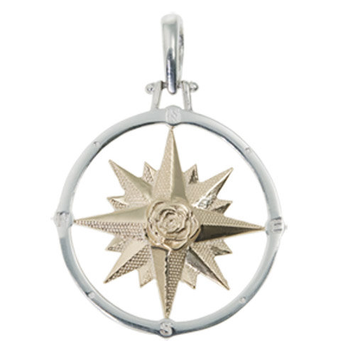 LARGE ROUND COMPASS ROSE