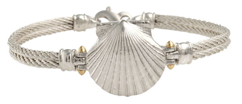 SCALLOP ON MARINERS BRACELET