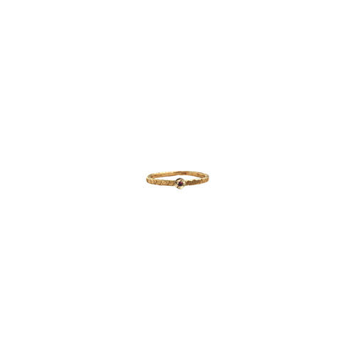 ROUND CHISELED RING STACKABLE