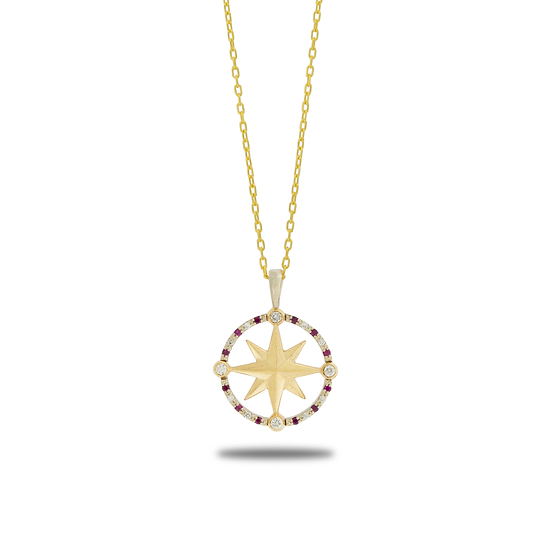 COMPASS ROSE 1.75MM DIAMOND RUBY PAVÉ
