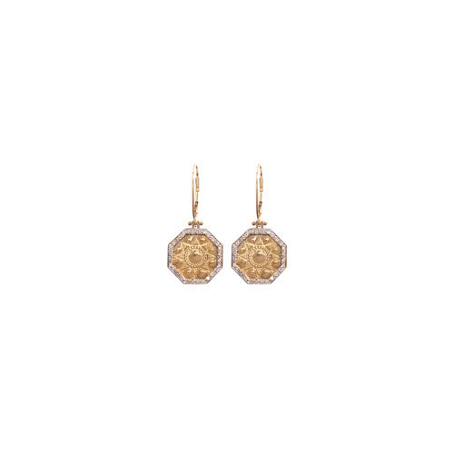 SMALL PAVÉ EARRINGS 28PTS LEVERBACK