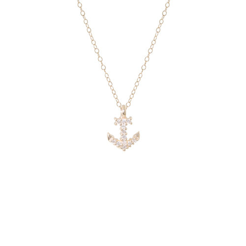 PETITE PAVÉ ANCHOR 6PTS DIAMONDS