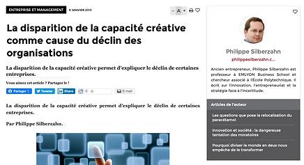 Présentation article capacité créative