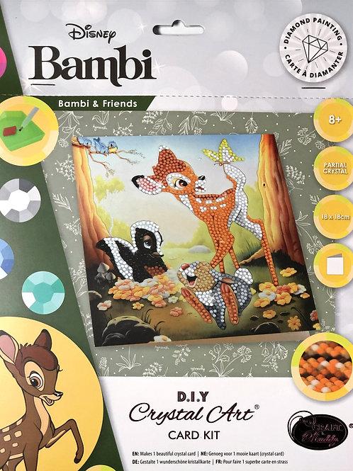 Disney Bambi Crystal Art Card