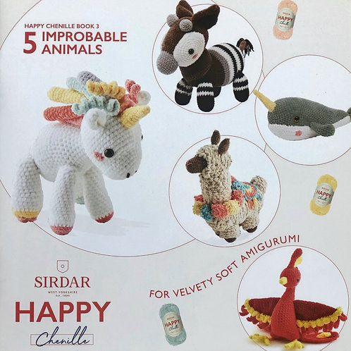 Sirdar Happy Chenille - Improbable Animals, Book 3