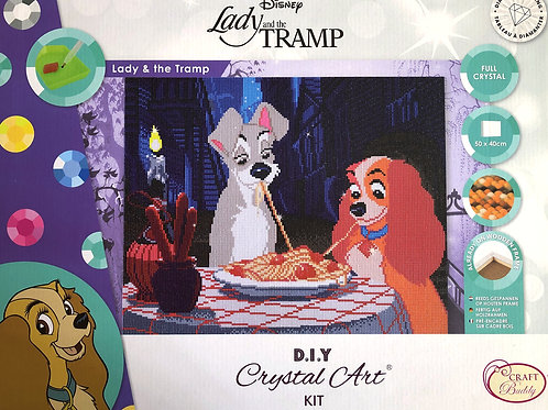 Disney Lady and the Tramp Crystal Art Picture Frame Kit 50x40cm