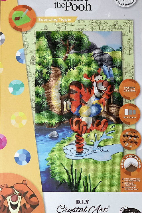 Disney Bouncing Tigger Triptych Crystal Art Picture Frame Kit 40x22cm