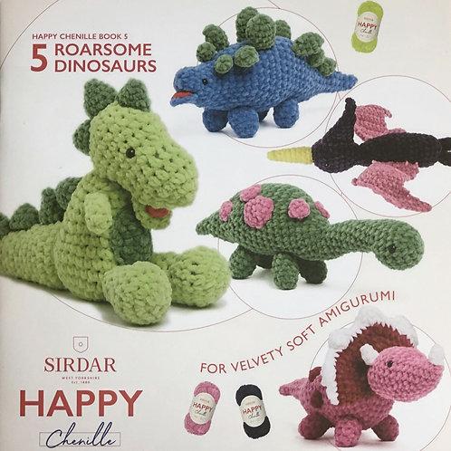 Sirdar Happy Chenille - Roarsome Dinosaurs, Book 5