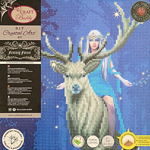 Craft Buddy Fantasy Forest by Anne Stokes Crystal Art Picture Frame Kit