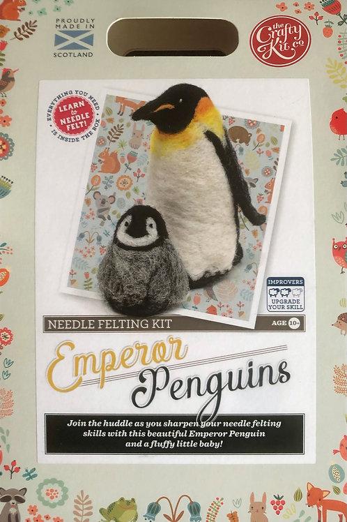 The Crafty Kit Company - Emperor Penguins Needle Felting Kit