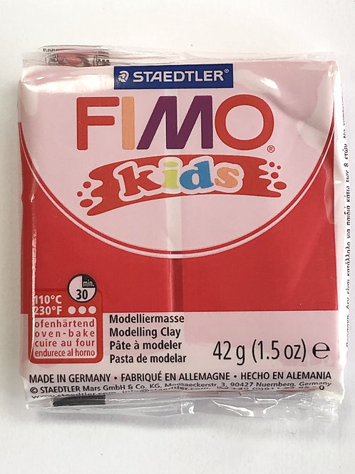 Fimo Kids Modelling Clay - 8030-2 Red, 42g