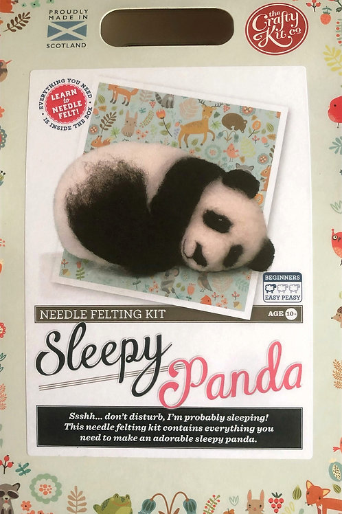The Crafty Kit Company - Sleepy Panda Needle Felting Kit