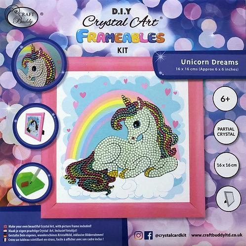 Unicorn Dreams Crystal Art Frameable