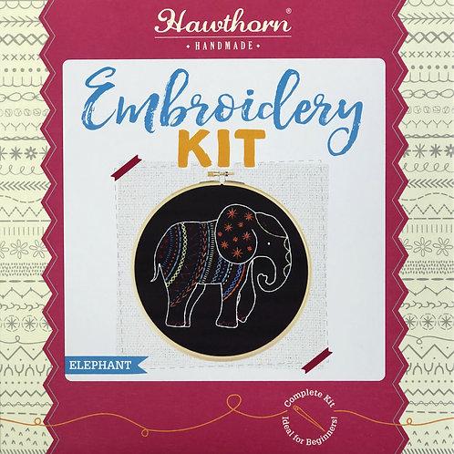 Hawthorn Handmade - Black Elephant Embroidery Kit