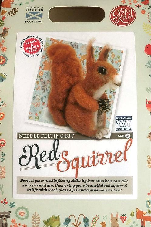 The Crafty Kit Company - Red Squirrel Needle Felting Kit