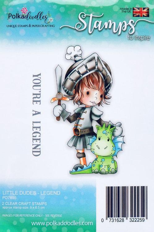 Polkadoodles Little Dudes Polymer Stamp, Legend Knight
