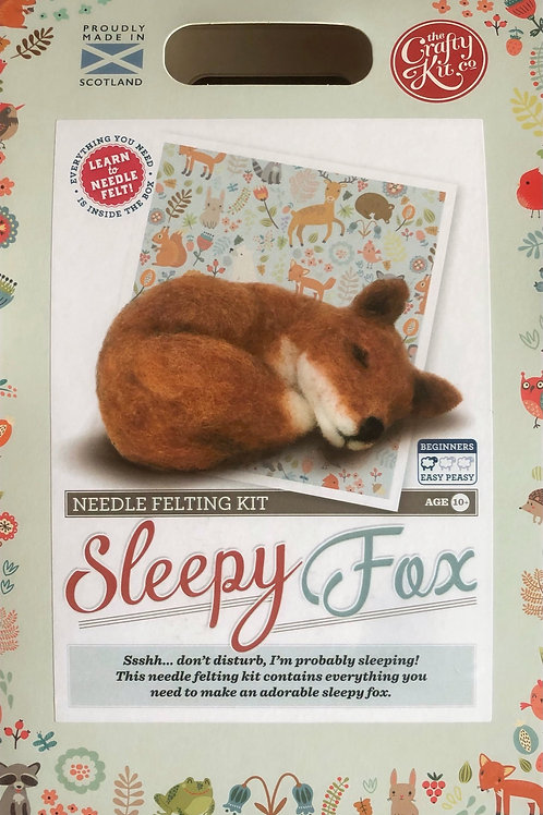 The Crafty Kit Company - Sleepy Fox Needle Felting Kit