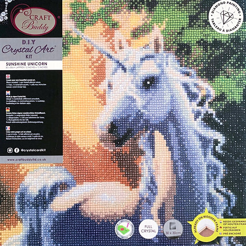 Craft Buddy Sunshine Unicorn Crystal Art Picture Frame Kit