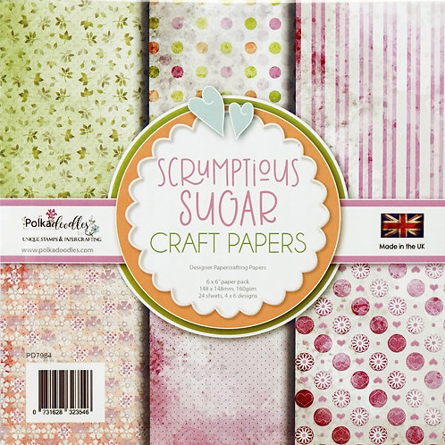 Polkadoodles Craft Papers, Scrumptious Sugar