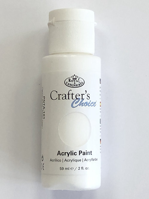 Crafter's Choice Acrylic Paint, Titanium White - PNTA-101