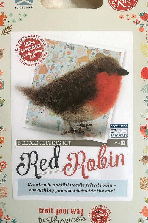The Crafty Kit Company - Red Robin Needle Felting Kit