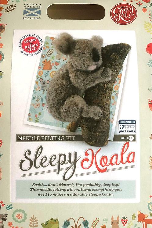 The Crafty Kit Company - Sleepy Koala Needle Felting Kit