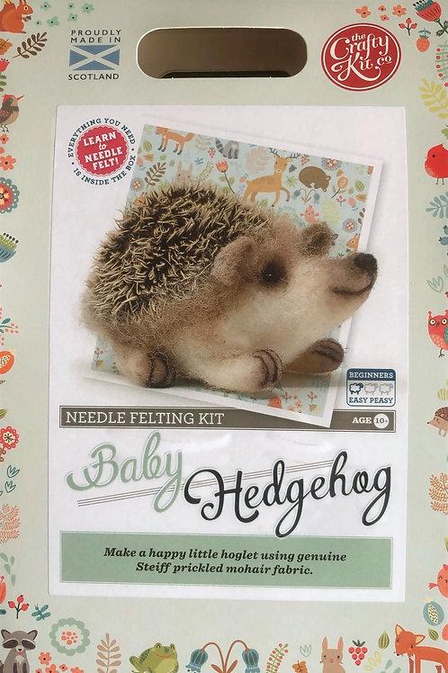 The Crafty Kit Company - Baby Hedgehog Needle Felting Kit