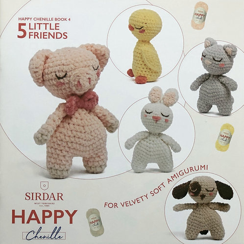 Sirdar Happy Chenille - Little Friends, Book 4