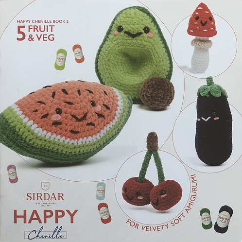 Sirdar Happy Chenille - Fruit & Veg, Book 2