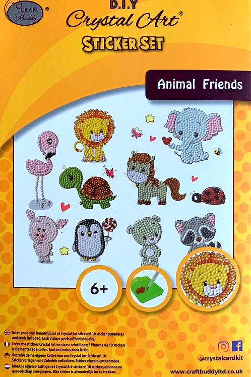 Animal Friends Crystal Art Sticker Set