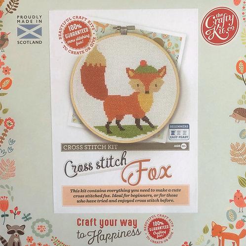 The Crafty Kit Company - Fox Cross Stitch Kit
